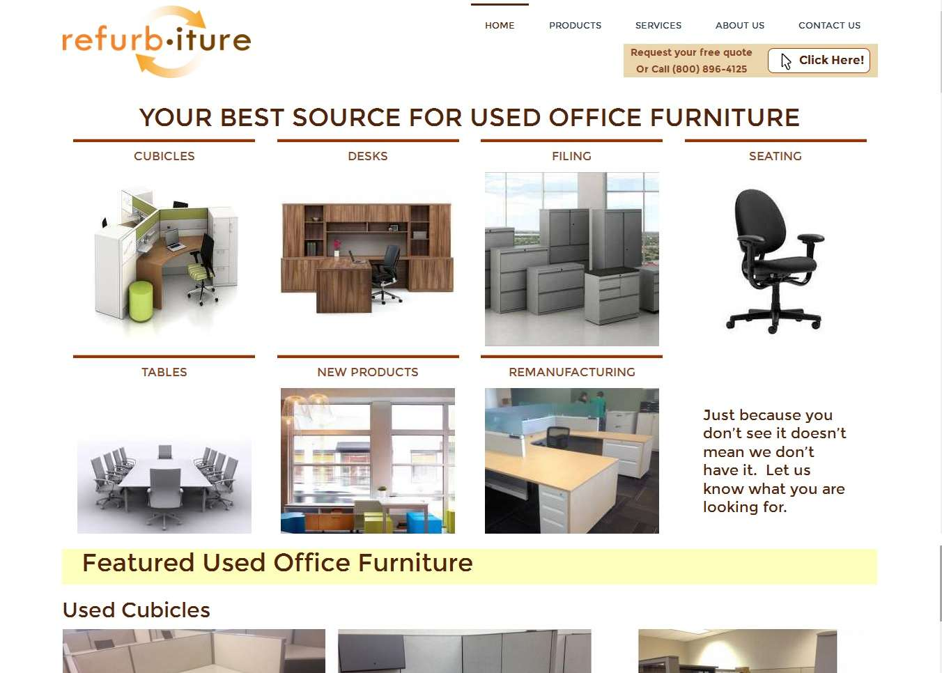 Refurbiture, Inc. | St. Louis Web Designz